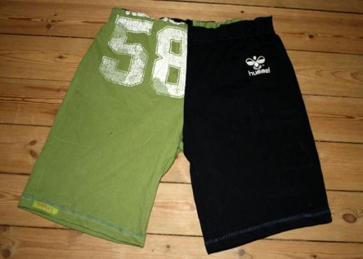Wer sagt, dass aus alten T-Shirts nicht noch neue Sporthosen werden können?